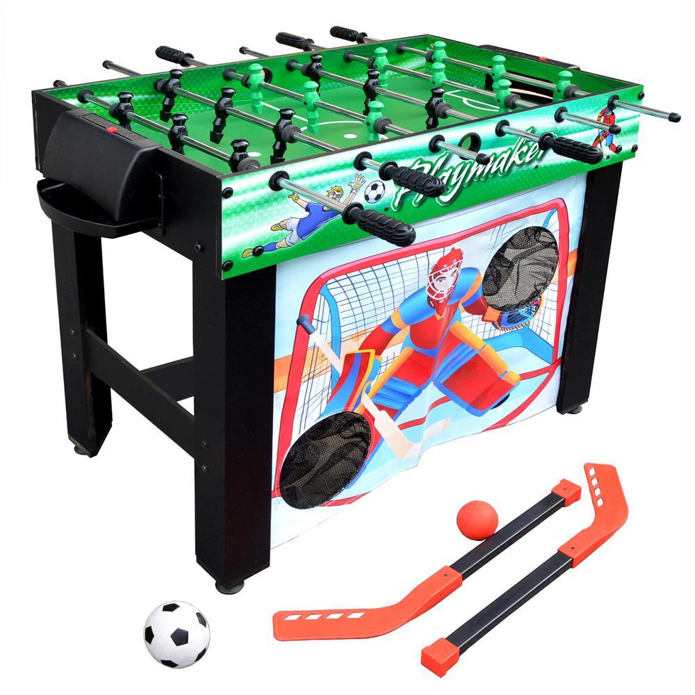 Hathaway Playmaker 3 In 1 Foosball Multi Game Table