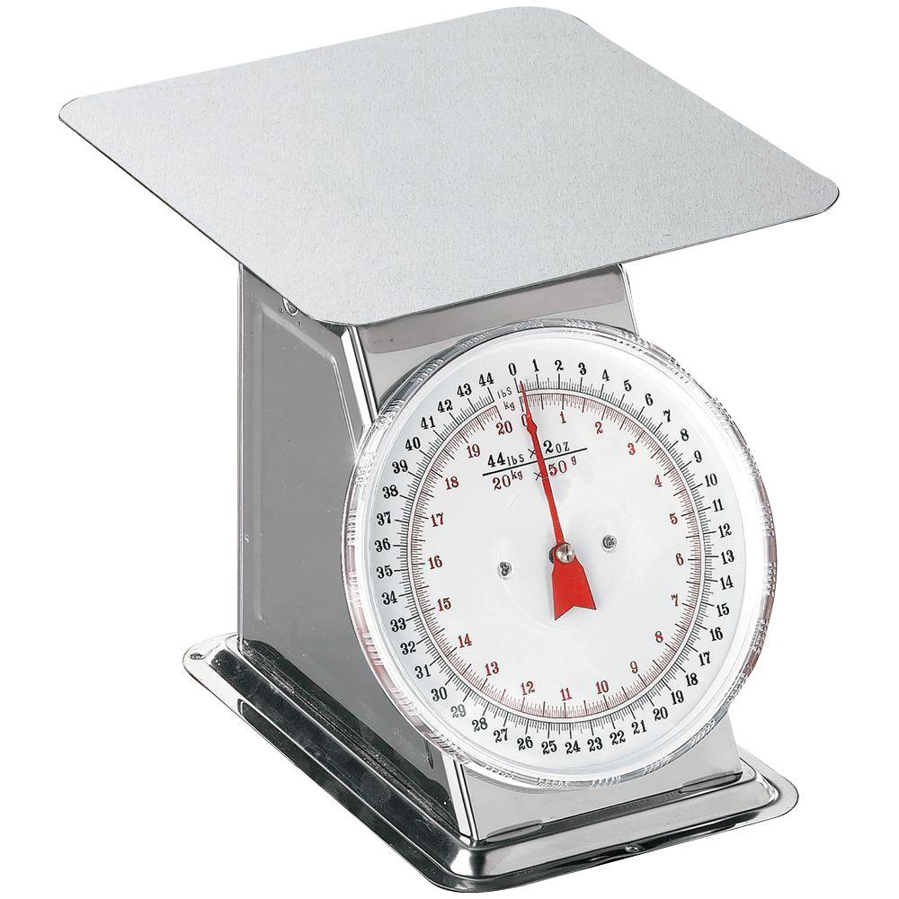Prago 44 lb. Flat Top Dial Scale
