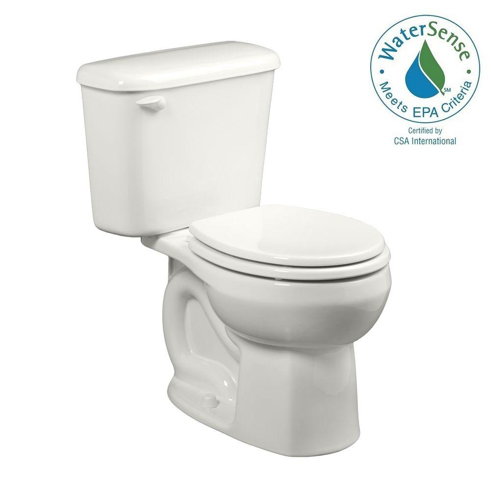 Colony 10 in. Rough-In 2-piece 1.28 GPF Single Flush Round Toilet