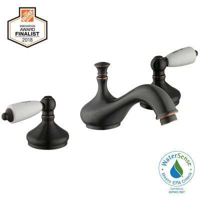 Teapot 8 in. Widespread 2-Handle Low-Arc Bathroom Faucet in Bronze