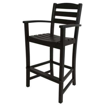 La Casa Cafe Black Plastic ...  sc 1 st  The Home Depot & Weather resistant - Outdoor Bar Stools - Outdoor Bar Furniture ... islam-shia.org