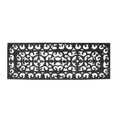 A1HC First Impression Audie Rubber Entry Double 17.71 in. x 47.25 in. Door Mat