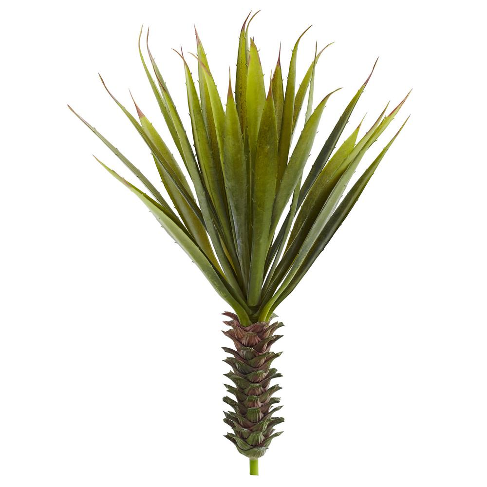 Nearly Natural Spiky Agave Succulent Plant (Set of 2)-6159-S2 ...