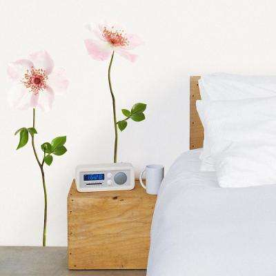 Multi-Color Dogwood Rose Mini Wall Decals
