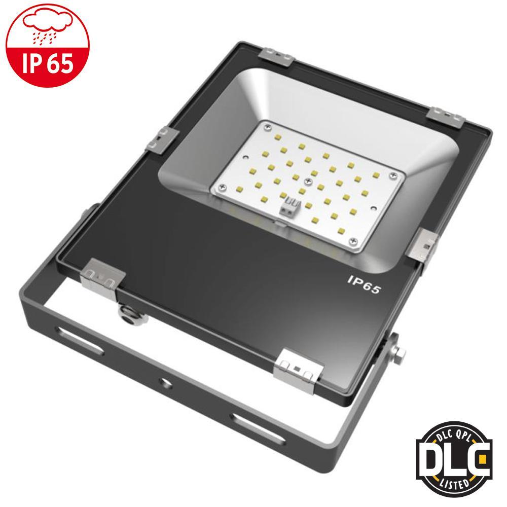 30-Watt 110 Black Finish Integrated LED Outdoor Flood Light