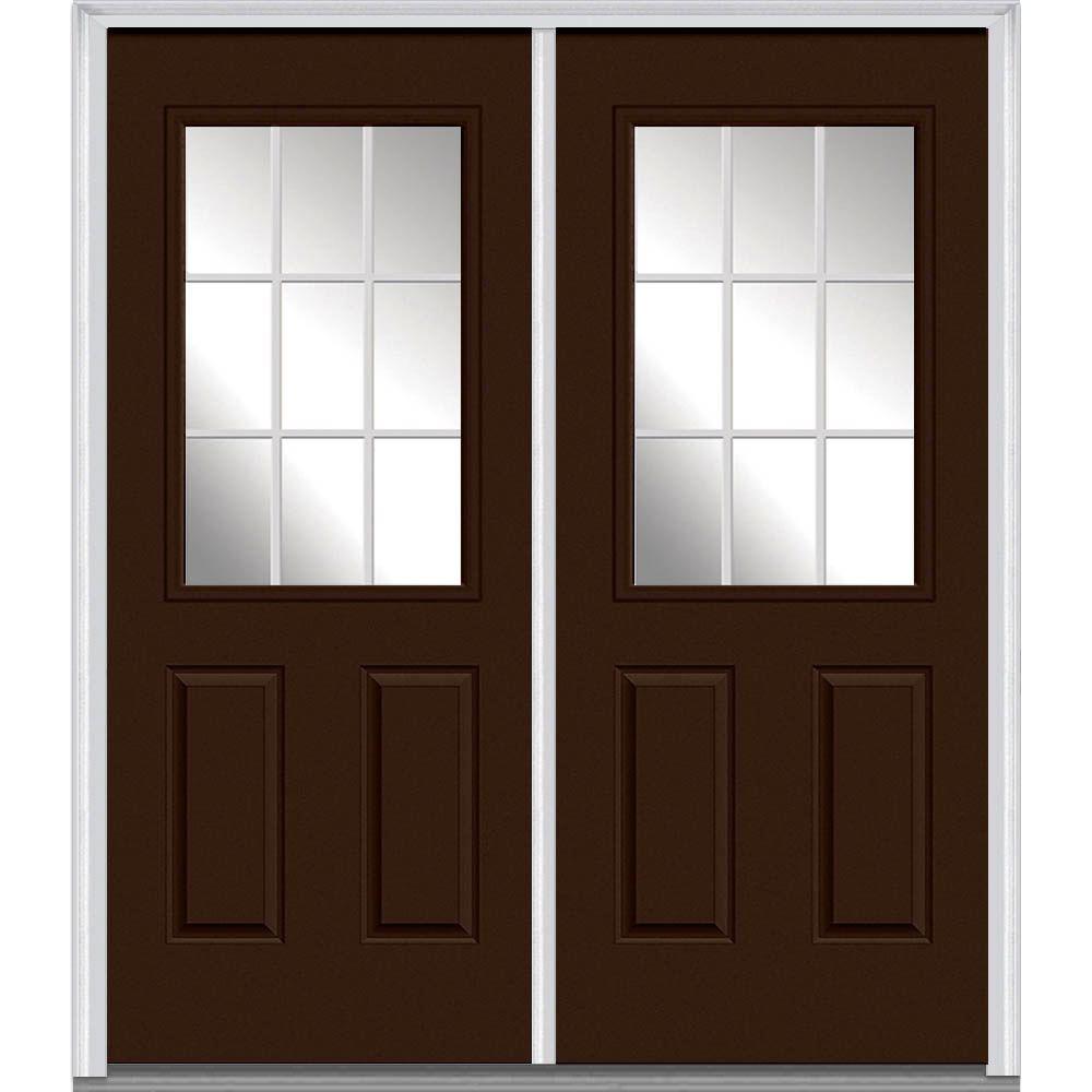 60 ...  sc 1 st  The Home Depot & 60 x 80 - Brown - Double Door - Steel Doors - Front Doors - The ... pezcame.com