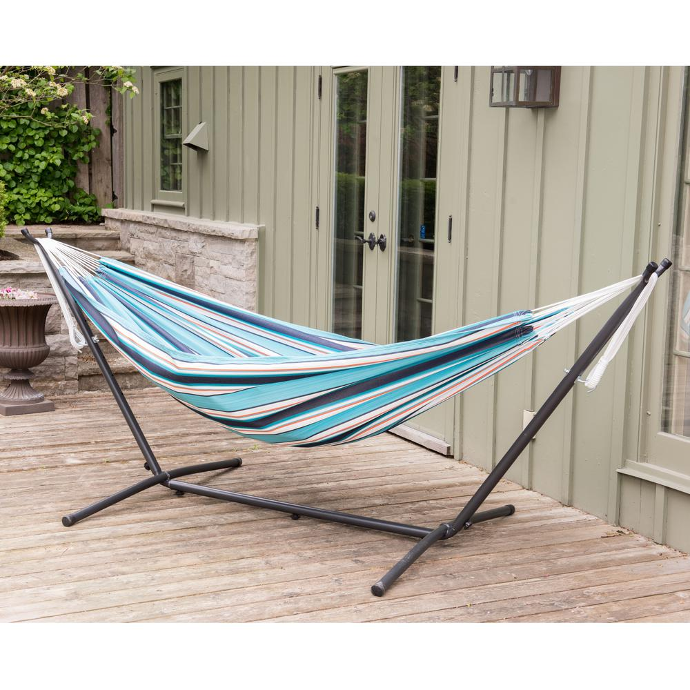 hammock fabric included with at denim stand hammocks shop pd lowes com vivere