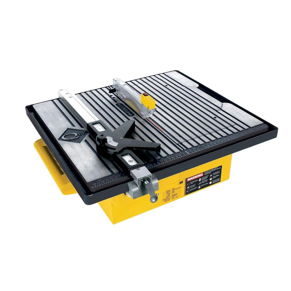 QEP 1 HP Professional Wet Tile Saw with 7 in. Diamond Blade