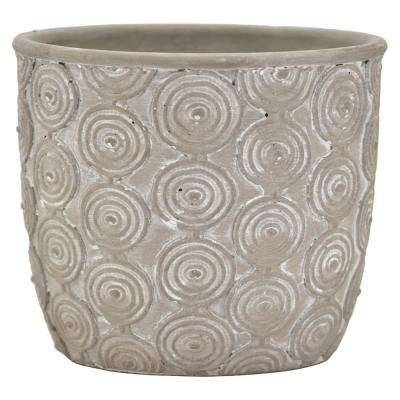 6.25 in. Gray Terracotta Planter