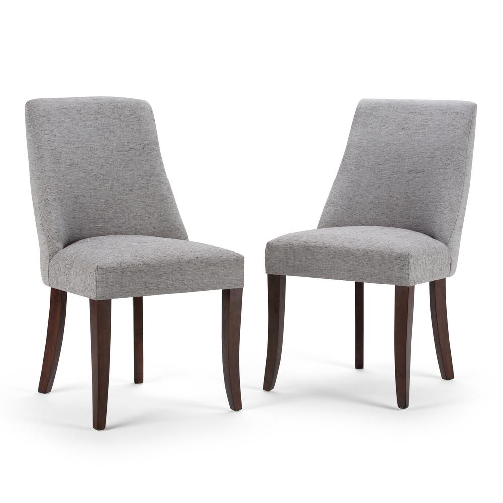 Simply Home Walden Grey Fabric Dining Chair (Set of 2)