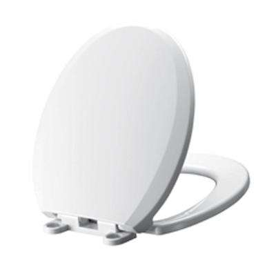 Cadet Slow Close EverClean Round Closed Front Toilet Seat in White