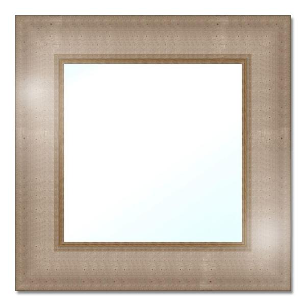 Small Rectangle Dark Brown Contemporary Mirror (12 in. H x 12 in. W)