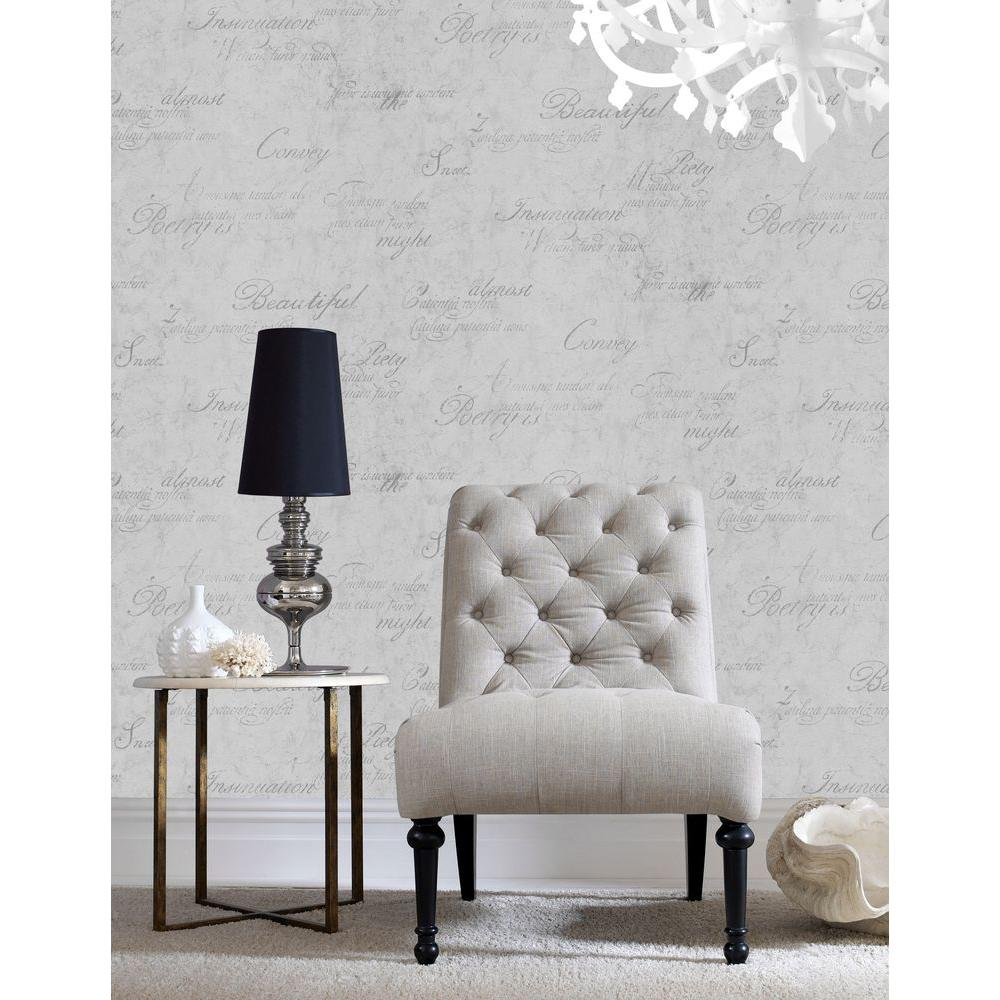 Graham Brown Majestic Grey Removable Wallpaper 30 437