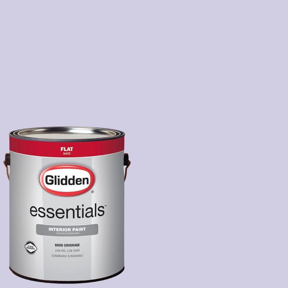 1 gal. #HDGV44 Iced Purple Flat Interior Paint