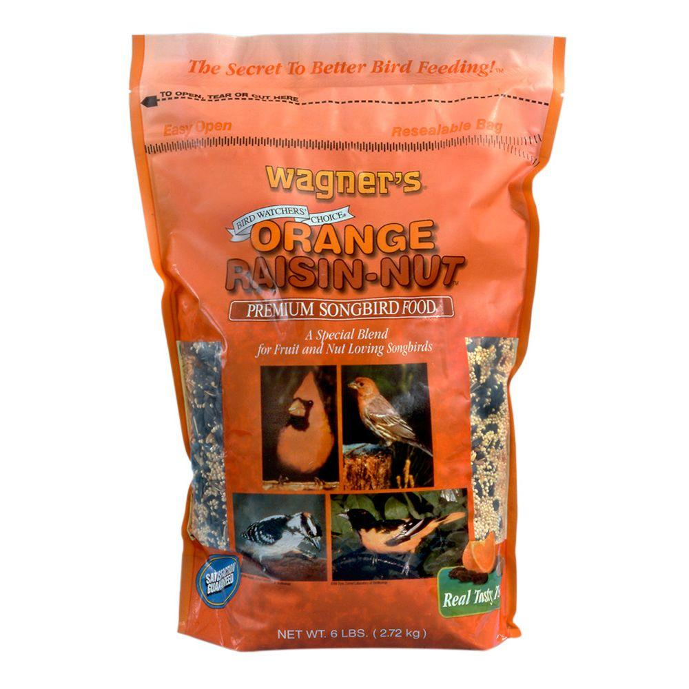 6 lb. Orange Raisin-Nut Premium Songbird Blend Wild Bird Food