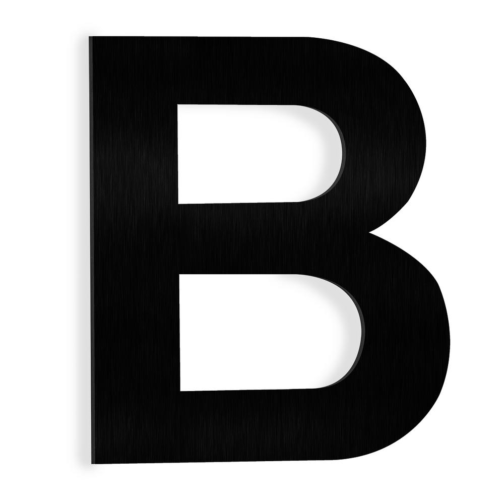 Black stainless steel floating house letter b