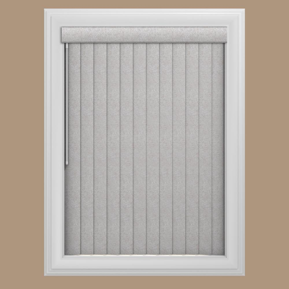 Bali Cut-to-Size Lightning Mont Blanc 3.5 in. PVC Louver Set - 80 in. L (9-Pack)