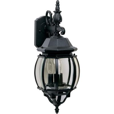 Crown Hill 3-Light Black Outdoor Wall Lantern Sconce