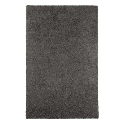 Shag Charcoal 5 ft. x 8 ft. Indoor/Outdoor Area Rug