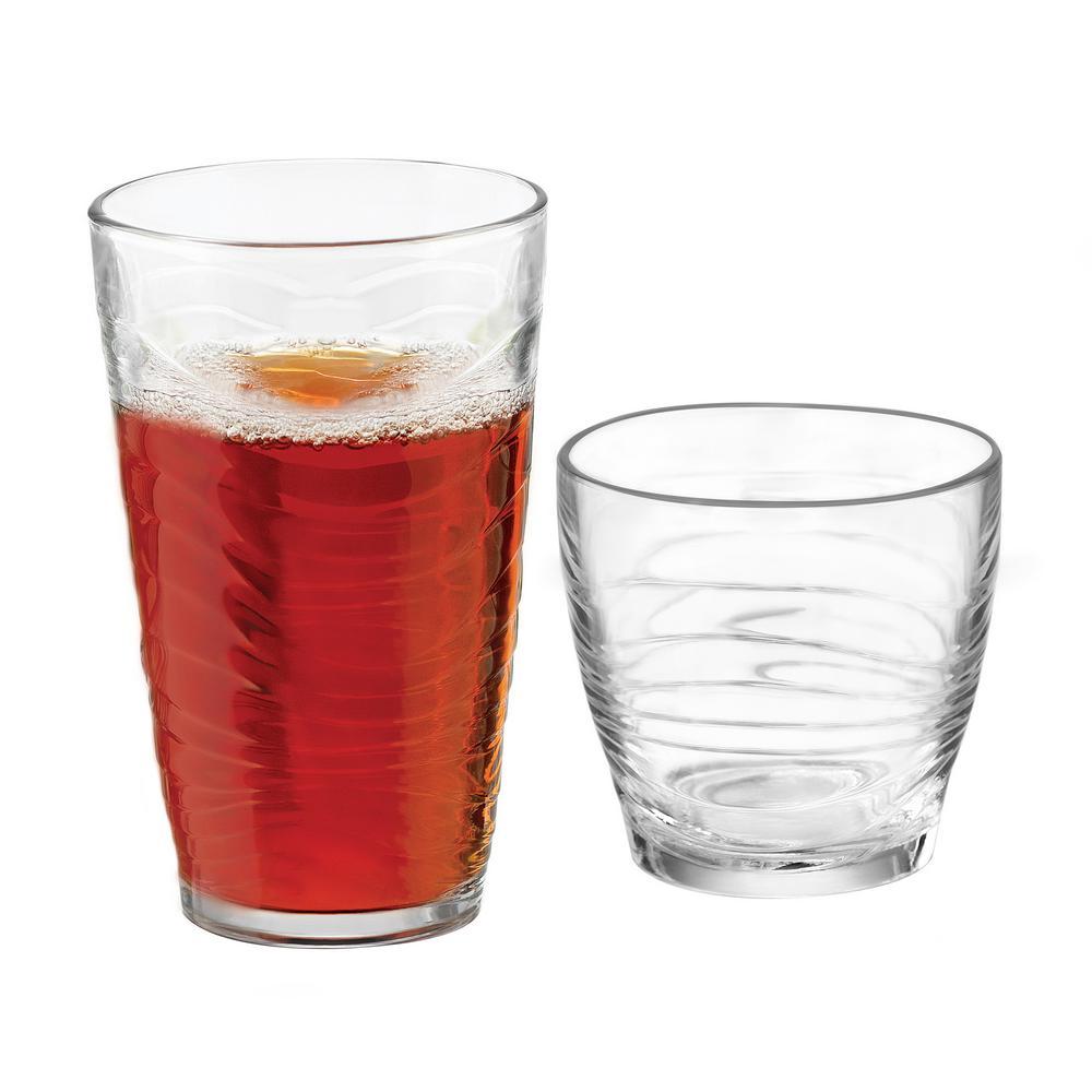 Orbita 16-Piece Clear Glass Drinkware Set