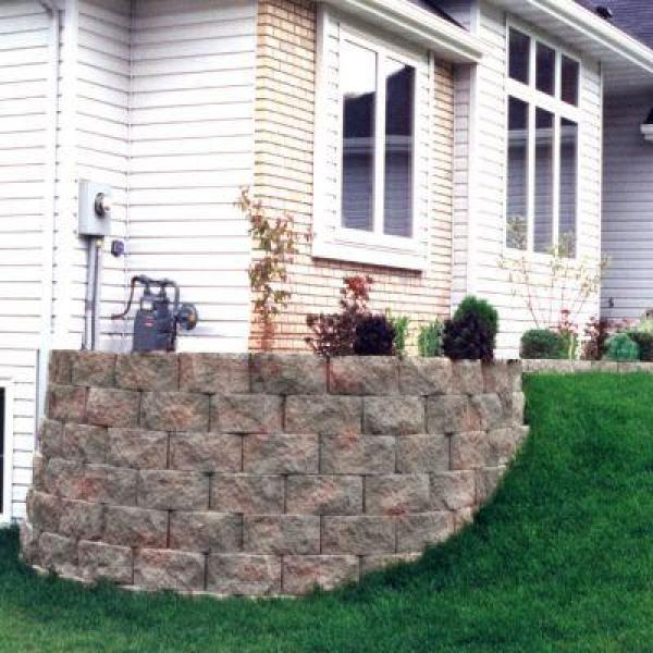 6 In X 16 In X 11 5 In Red Charcoal Concrete Retaining Wall Block 16202590 The Home Depot