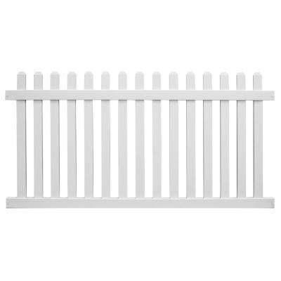 Chelsea 3 ft. H x 8 ft. W White Vinyl Picket Fence Panel Kit
