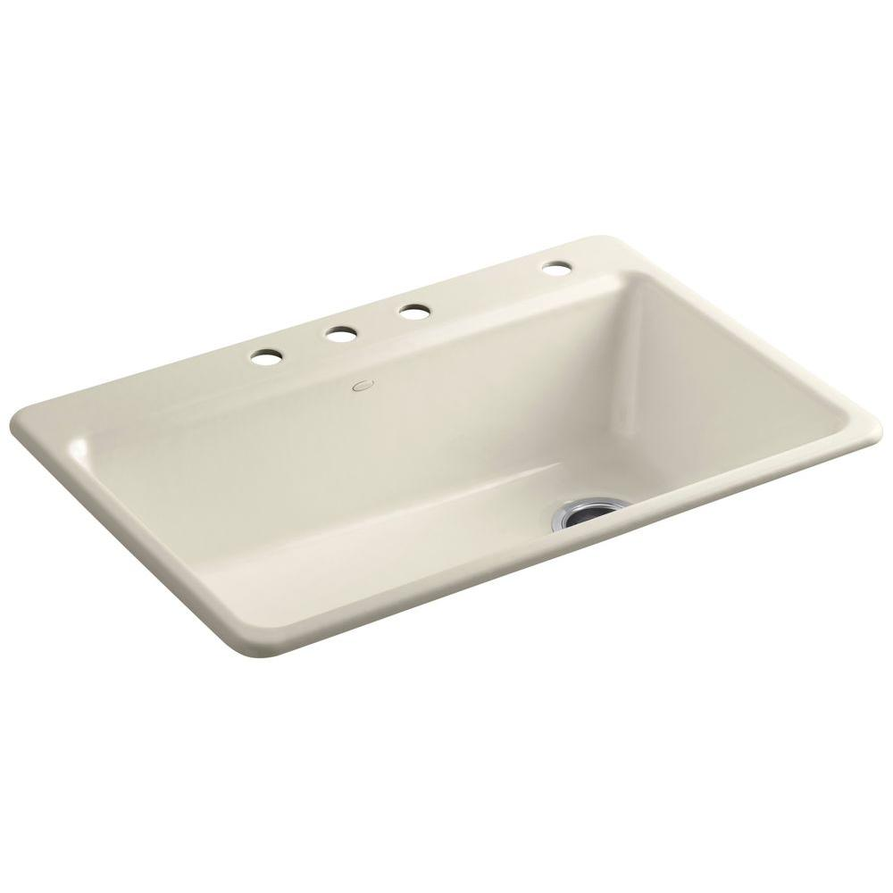 Kohler Cast Iron Single Bowl Kitchen Sink