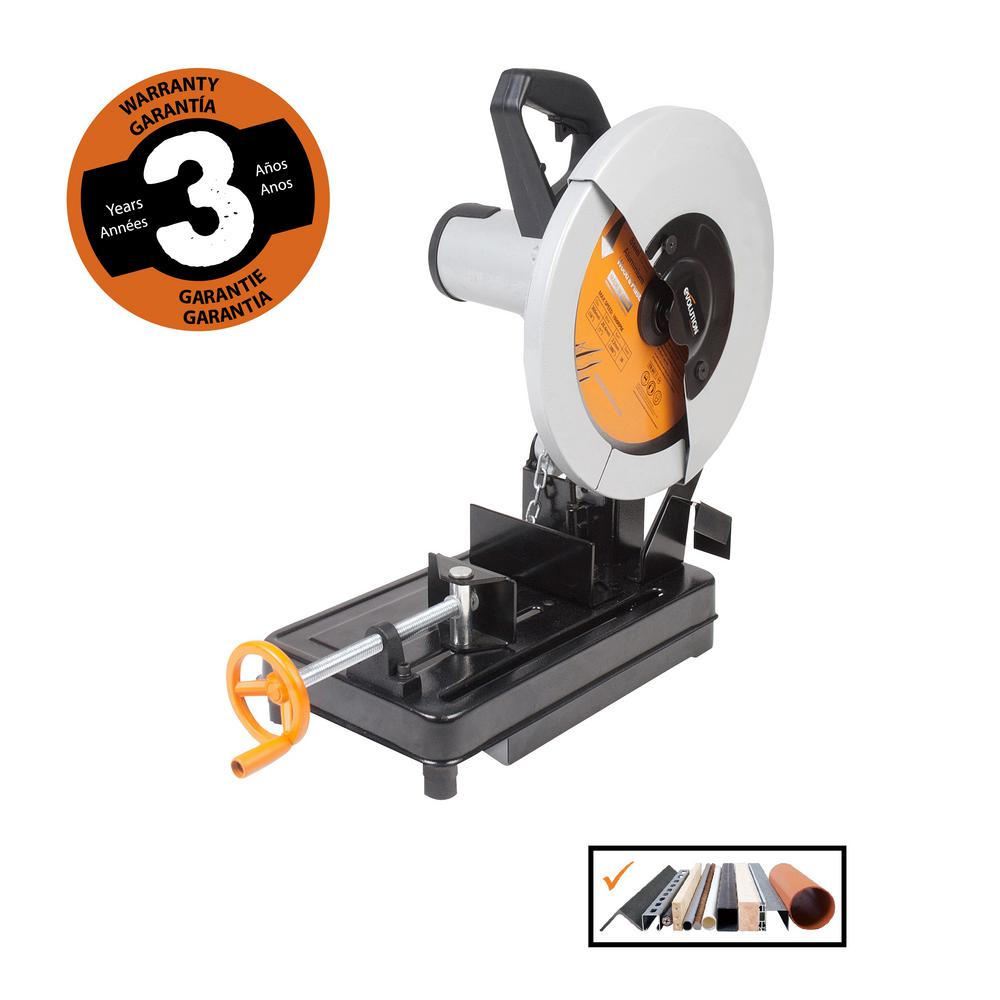 Evolution Power Tools 14 in. Multi-Purpose Chop Saw-RAGE2 - The Home ...
