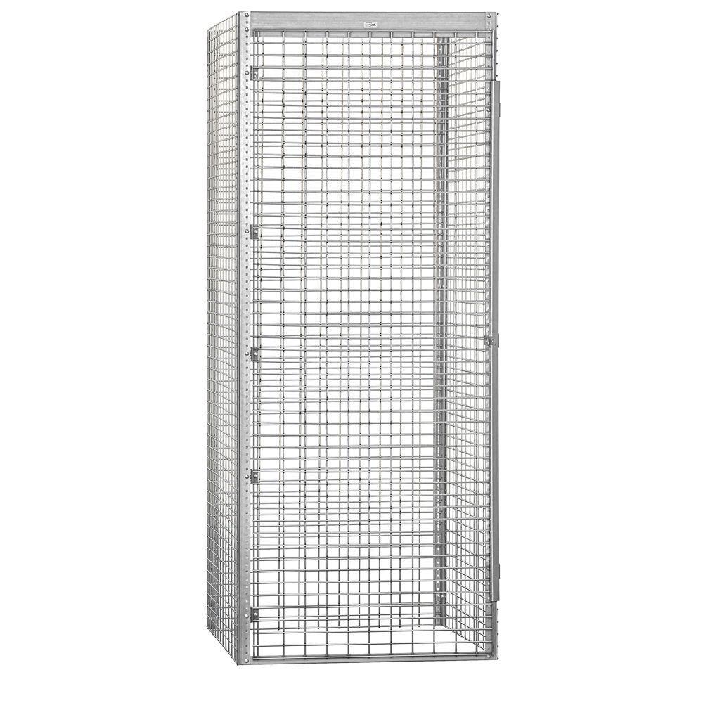 Salsbury Industries 8100 Series 36 in. W x 90 in. H x 36 in. D 1-Tier Bulk Storage Locker Starter in Aluminum