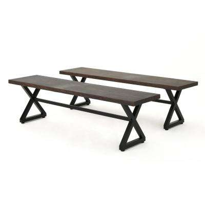 Rolando Brown Aluminum Outdoor Bench