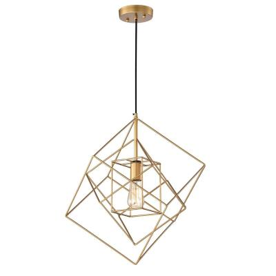 Arabella 20 in. 1-Light Indoor Gold Pendant Chandelier