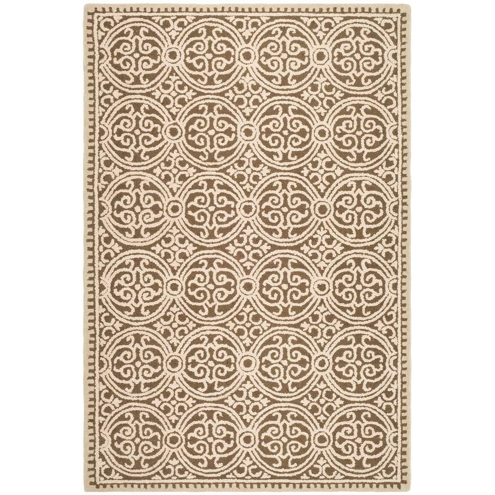 Cambridge Tan/Multi 10 ft. x 14 ft. Area Rug