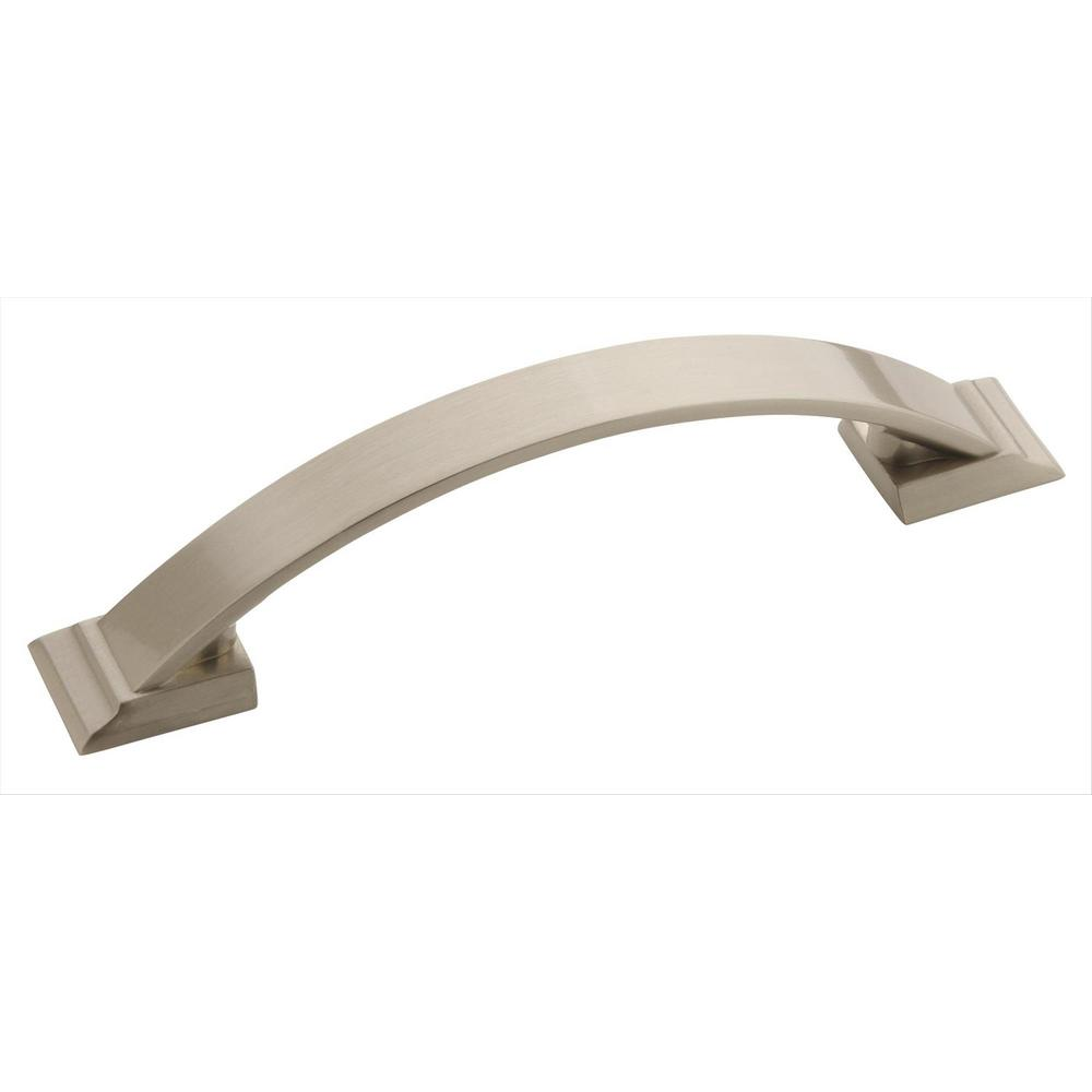 Candler 3-3/4 in. (96 mm) Center Satin Nickel Cabinet Pull (10-Pack)