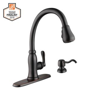 Pfister Hanover Single Handle Pull Down Sprayer Kitchen Faucet With