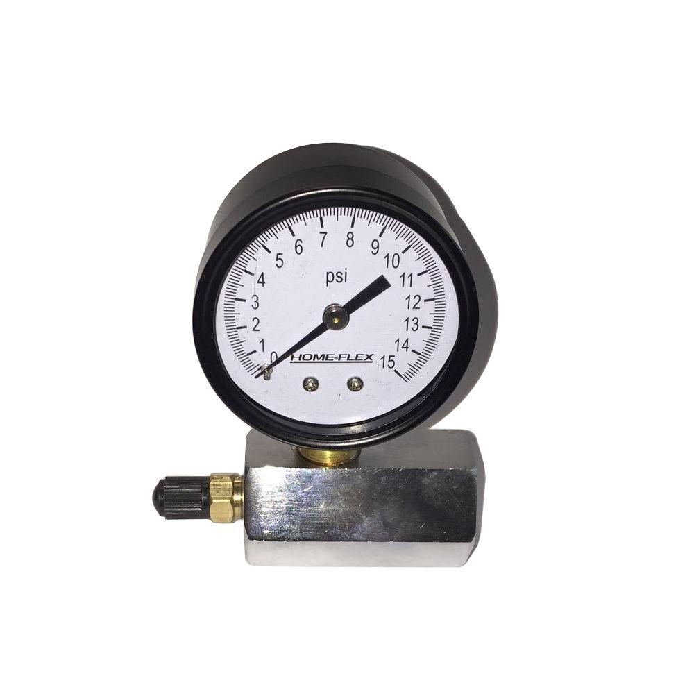 HOME-FLEX 15 psi Pressure Test Gauge