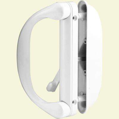 Diecast, White, Outside Patio Door Pull with Latch