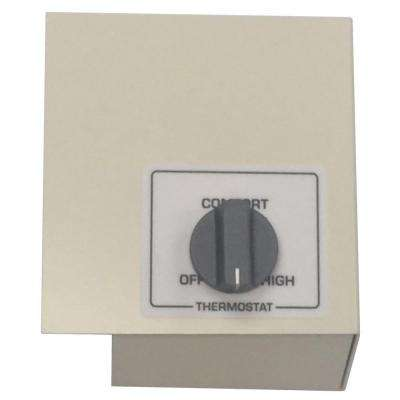 Double Pole Left Mount Thermostat Kit, White