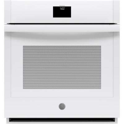 27 in. Smart Single Electric Wall Oven with Convection Self-Cleaning in White