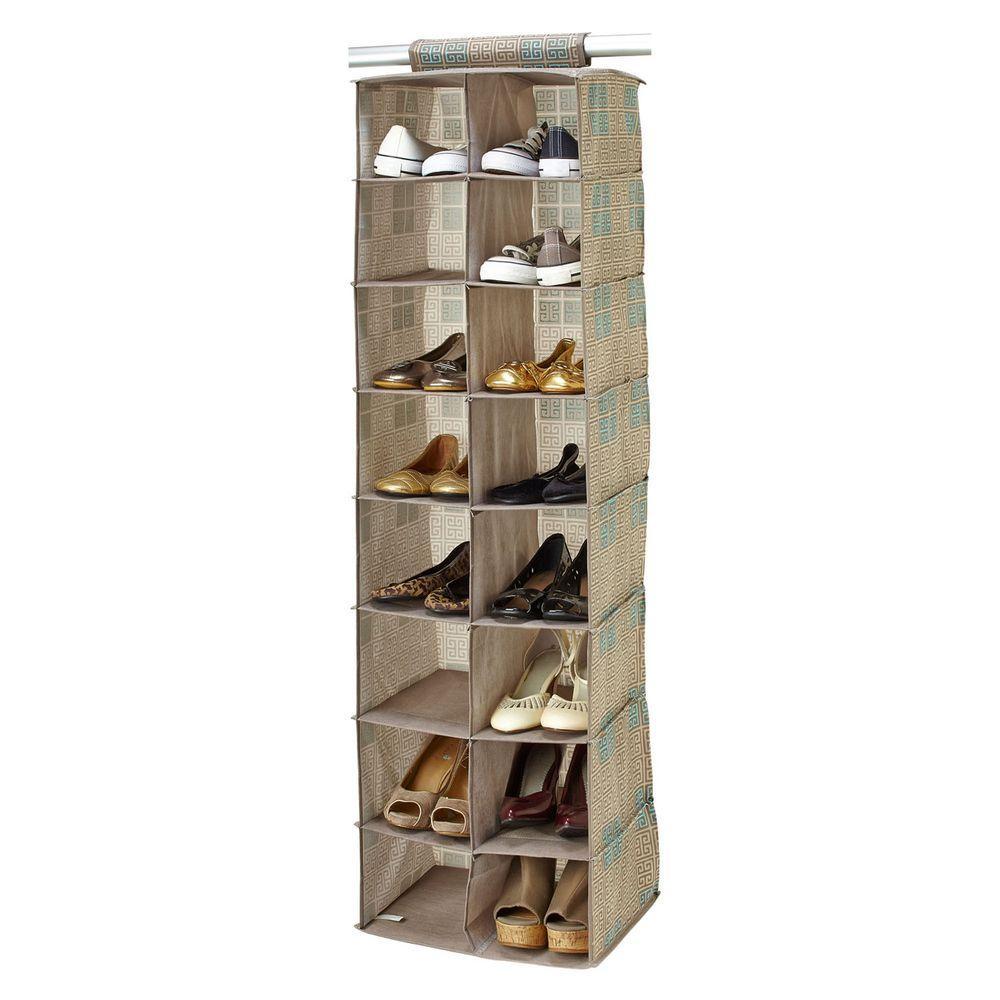 16-Pocket Polypropylene Shoe Organizer in Cameo Key Taupe
