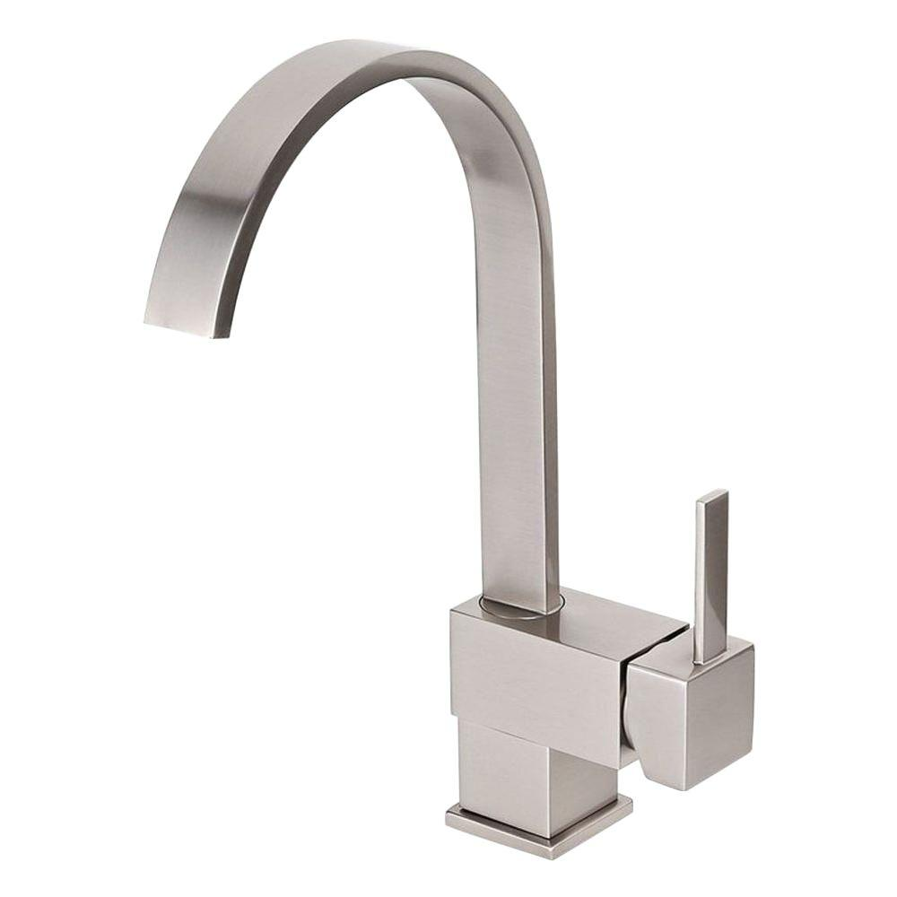 Kokols single hole single handle vessel bathroom faucet - Single hole bathroom faucets brushed nickel ...