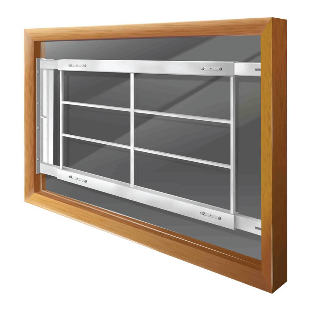home window security bars metal mr goodbar swingaway 62 in to 74 adjustable width 4bar
