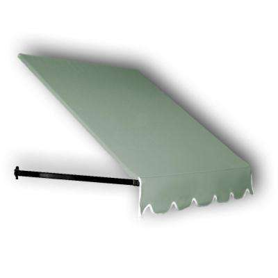 18 ft. Dallas Retro Window/Entry Awning (16 in. H x 24 in. D) in Sage