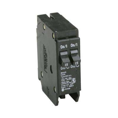 BR 2-15 Amp Single Pole Tandem Non-CTL Circuit Breaker