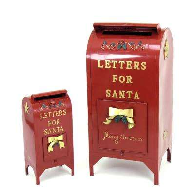 """Set of 2 Christmas """"Letters for Santa"""" Mailboxes"""