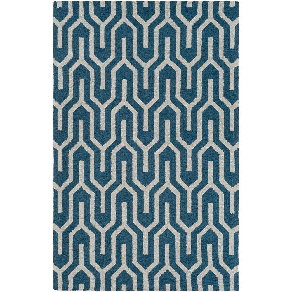 Impression Mandy Blue 5 ft. x 8 ft. Indoor Area Rug