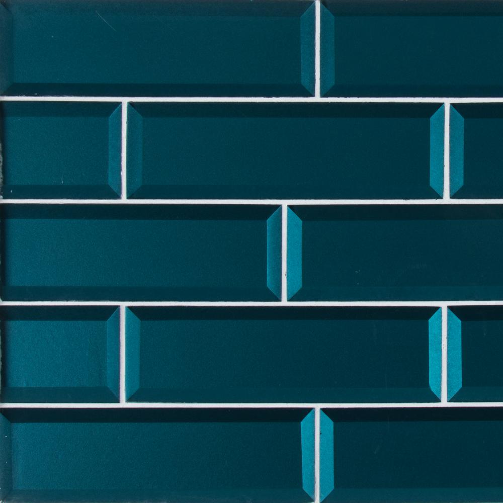 Msi Verde Azul Beveled 2 5 In X 9 8mm Gl Wall Tile 6 Sq Ft Case T Veraz2 5x8 The Home Depot