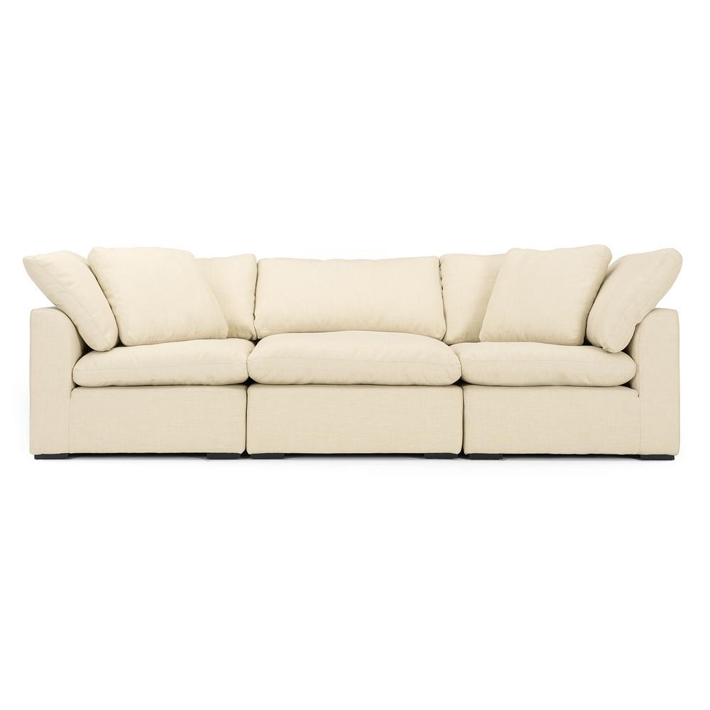 Aria 3-Piece Beige Sofa Set