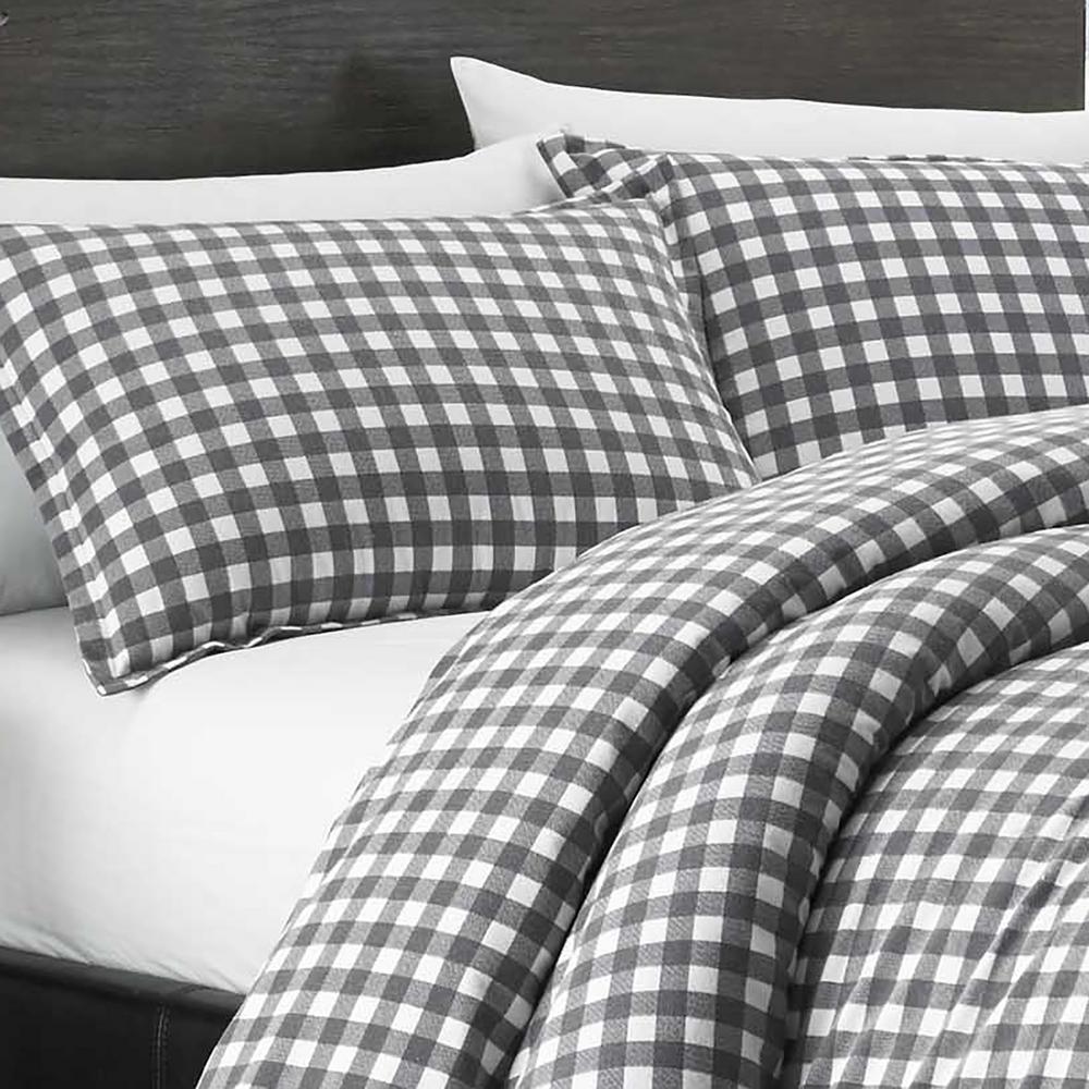 Eddie Bauer Preston 2-Piece Grey Twin Duvet Cover Set