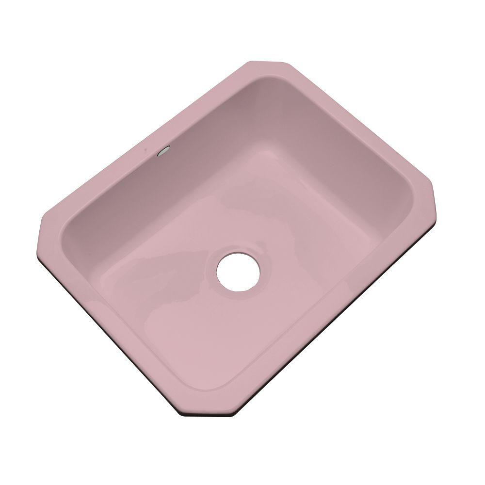 Thermocast Inverness Undermount Acrylic 25 in. Single Bowl Kitchen Sink in Wild Rose