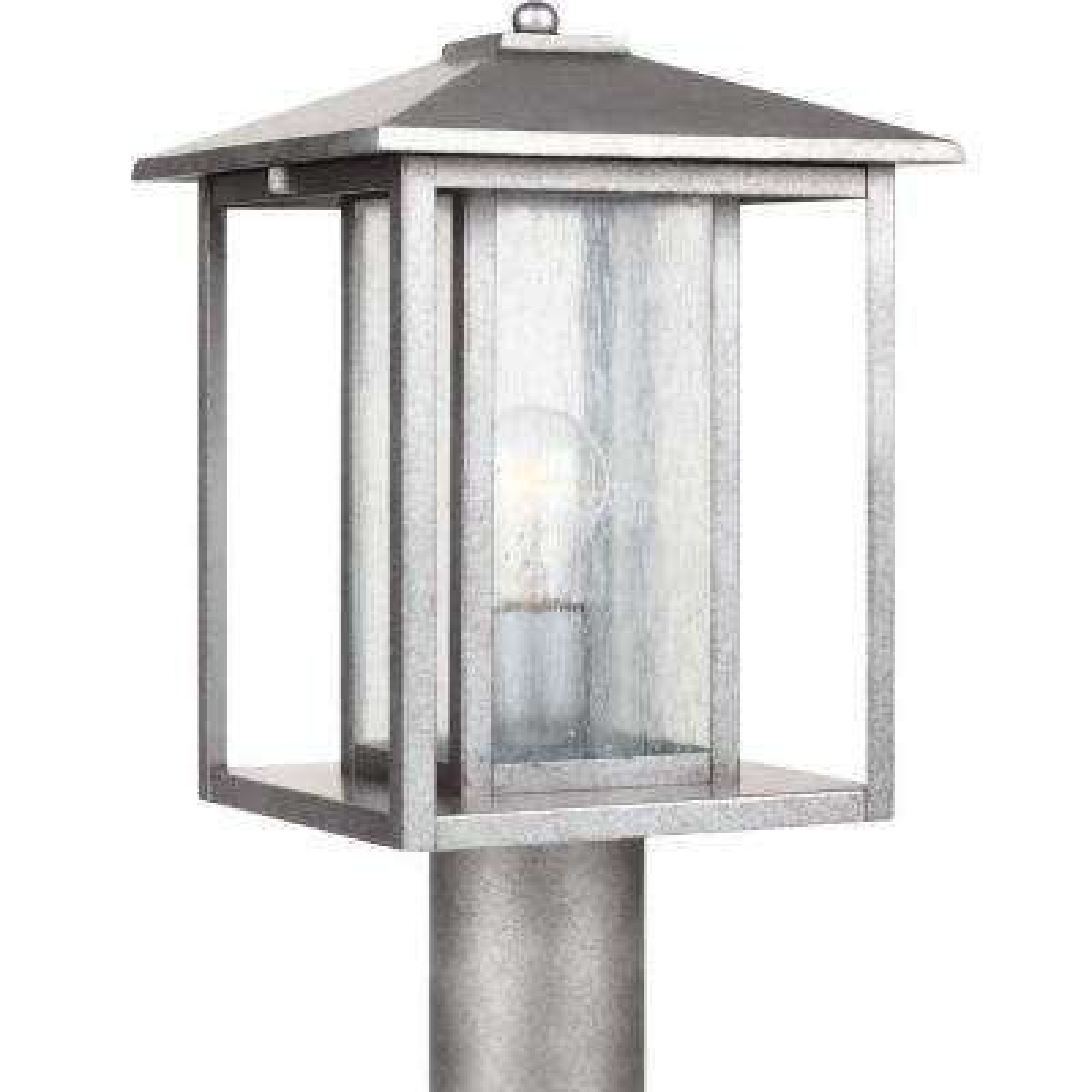 Hunnington 1-Light Weathered Pewter Outdoor Post Top